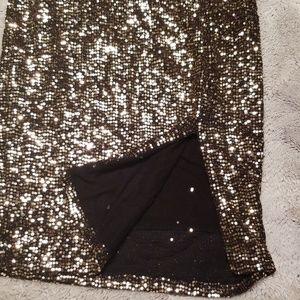 Fashion Nova Dresses - Fashion Nova strapless gold sequin 2 piece dress